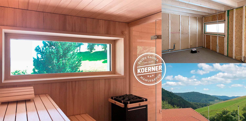 KOERNER Sauna mit traumhaftem Blick ins Schwarzwälder Tal