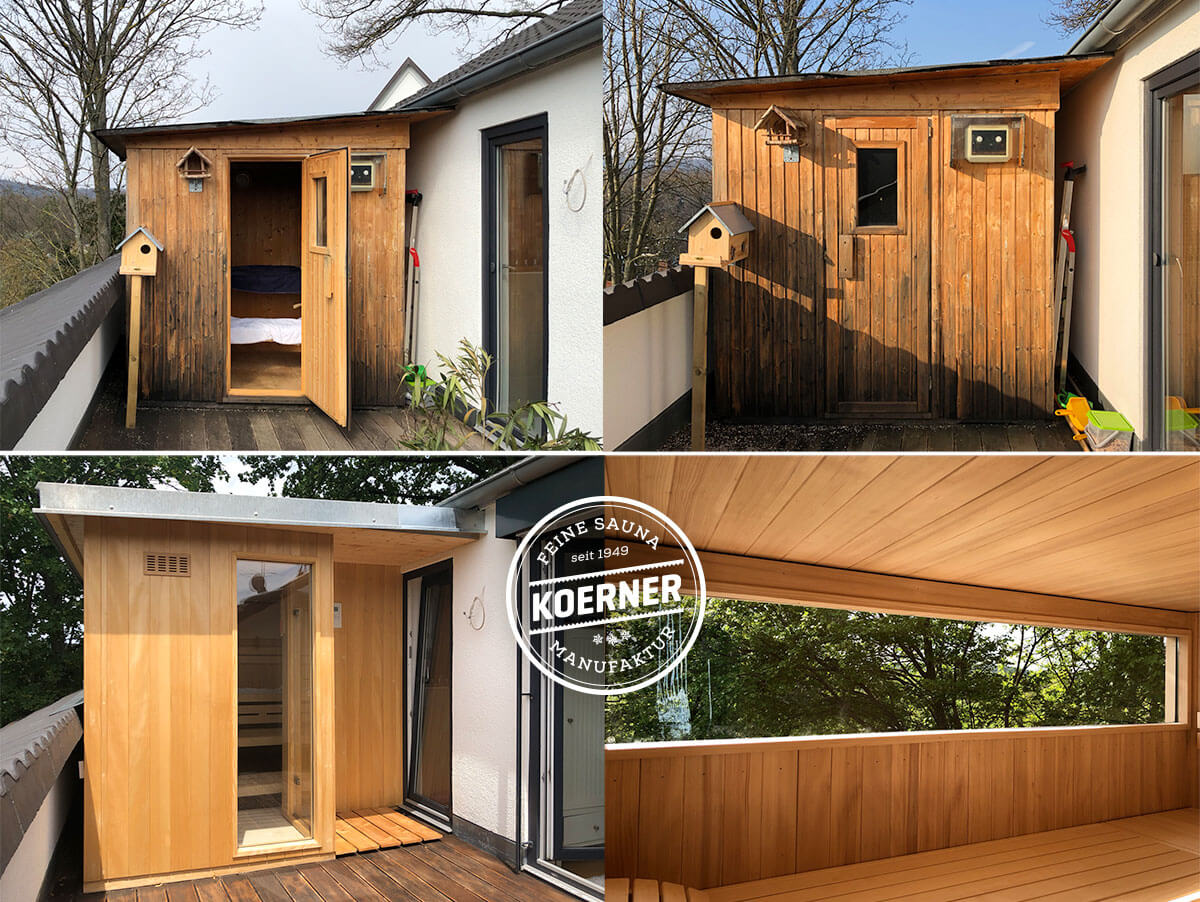 KOERNER Sauna mit Outdoor-Paket