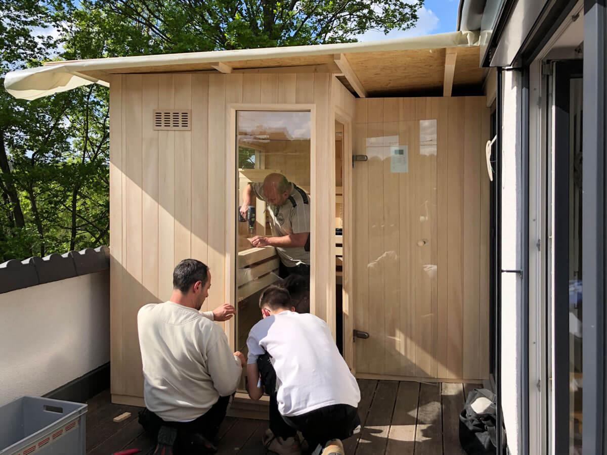 KOERNER Sauna bei der Arbeit