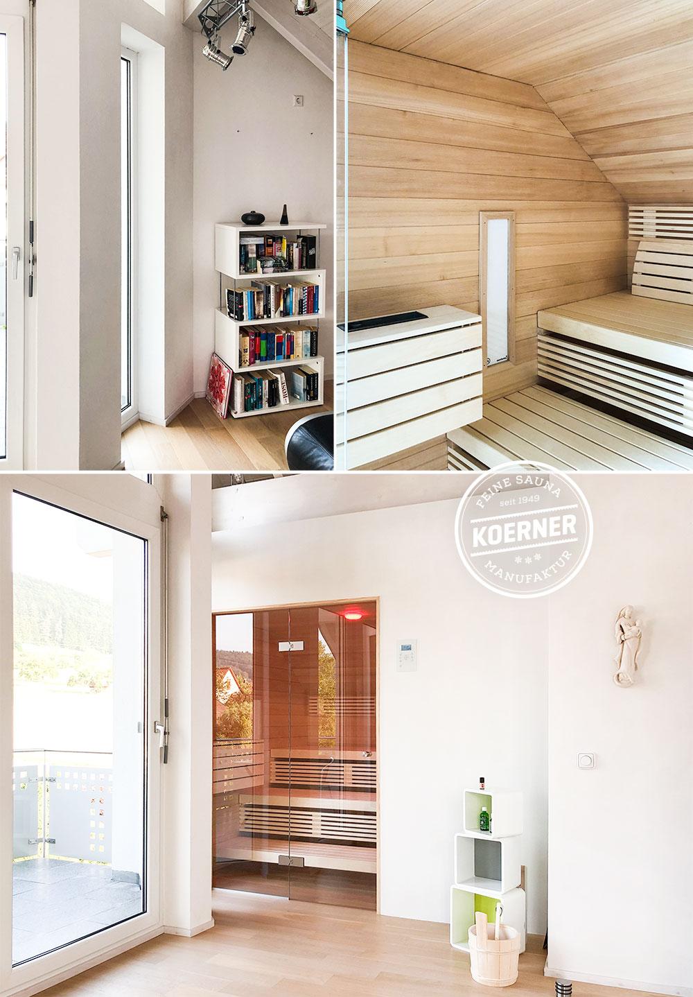 KOERNER Sauna statt Leseecke