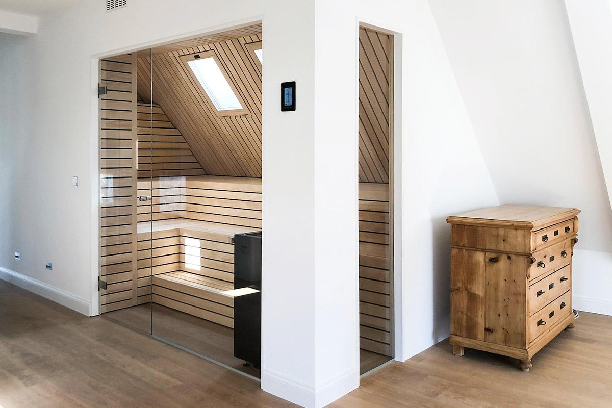 KOERNER Sauna Lineus im Wellnessbereich