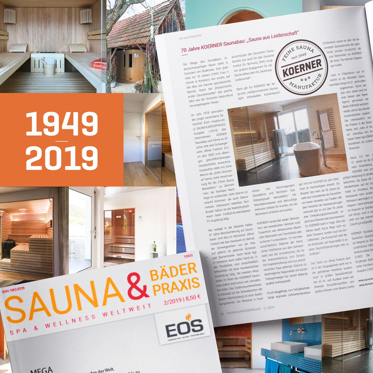 """KOERNER im Magazin """"Sauna & Bäderpraxis"""""""