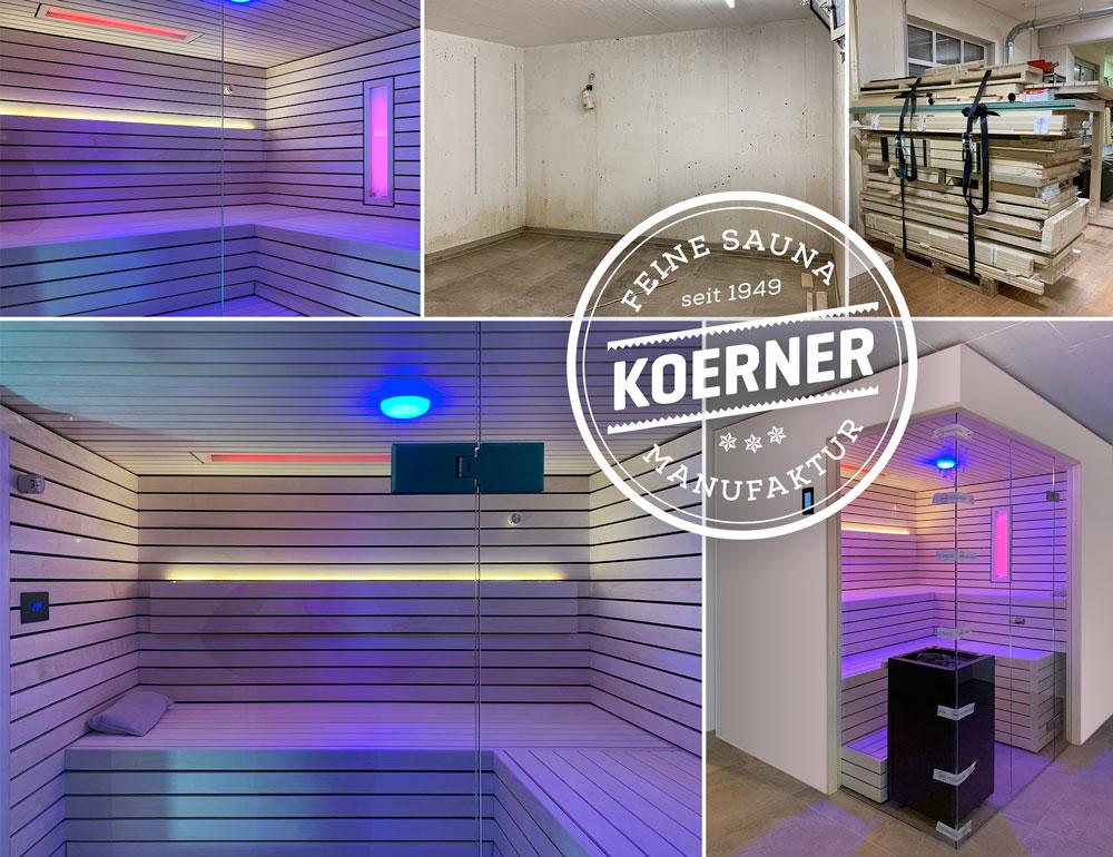 Vom Kellerraum zum Wellnesstraum mit einer KOERNER Sauna