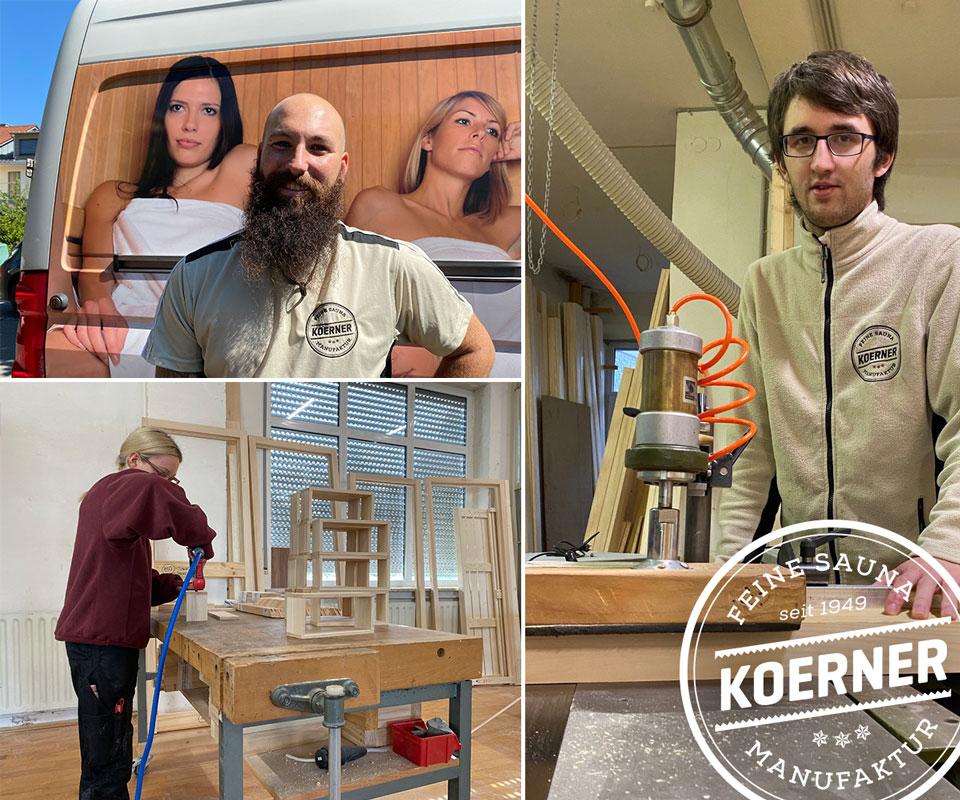 Neue Mitarbeiter bei KOERNER Saunabau