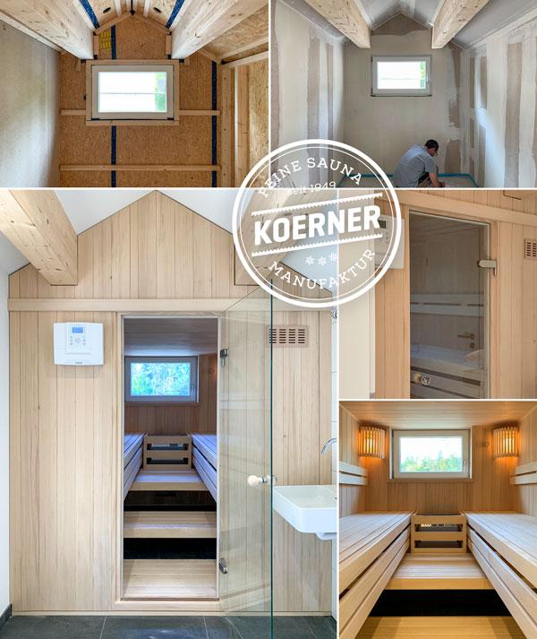 KOERNER Sauna im Dachspitz
