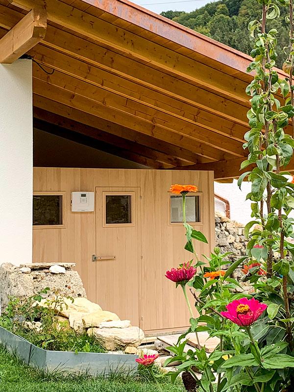 KOERNER Outdoor-Sauna im Garten per App steuerbar
