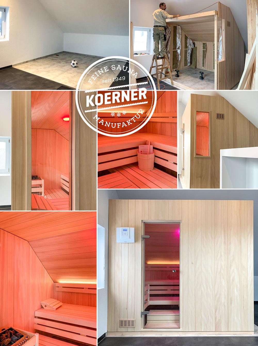 KOERNER Sauna für den Profi im Dachgeschoss