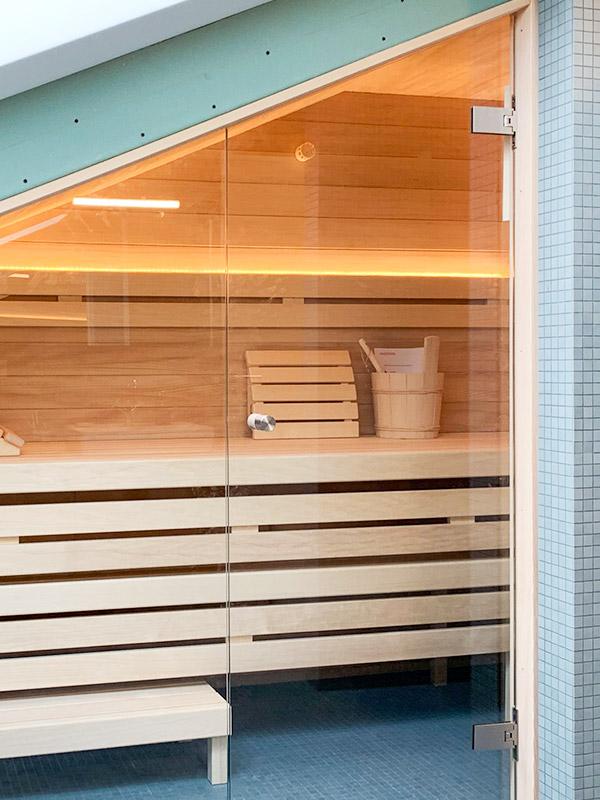 KOERNER Sauna angepasst an Dachschräge, Schwäbische Alb