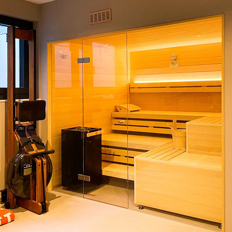 Sauna nach Maß im Fitnessraum
