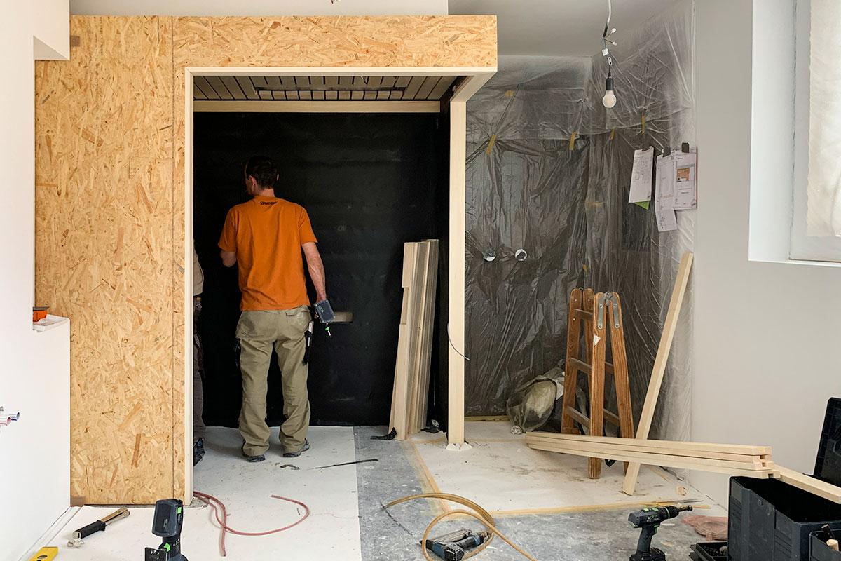 Individueller Saunabau im Badezimmer