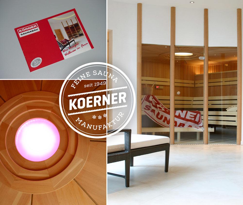 KOERNER Sauna mit detaillierter Deckenverkleidung