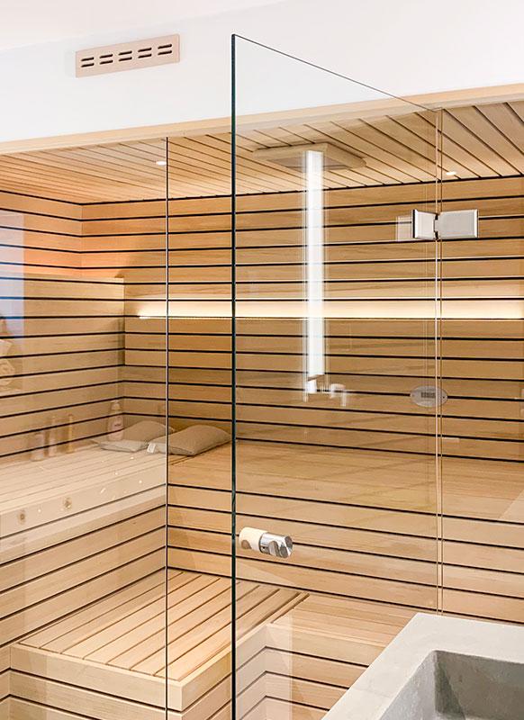 KOERNER Sauna LINEUS mit Glasfront