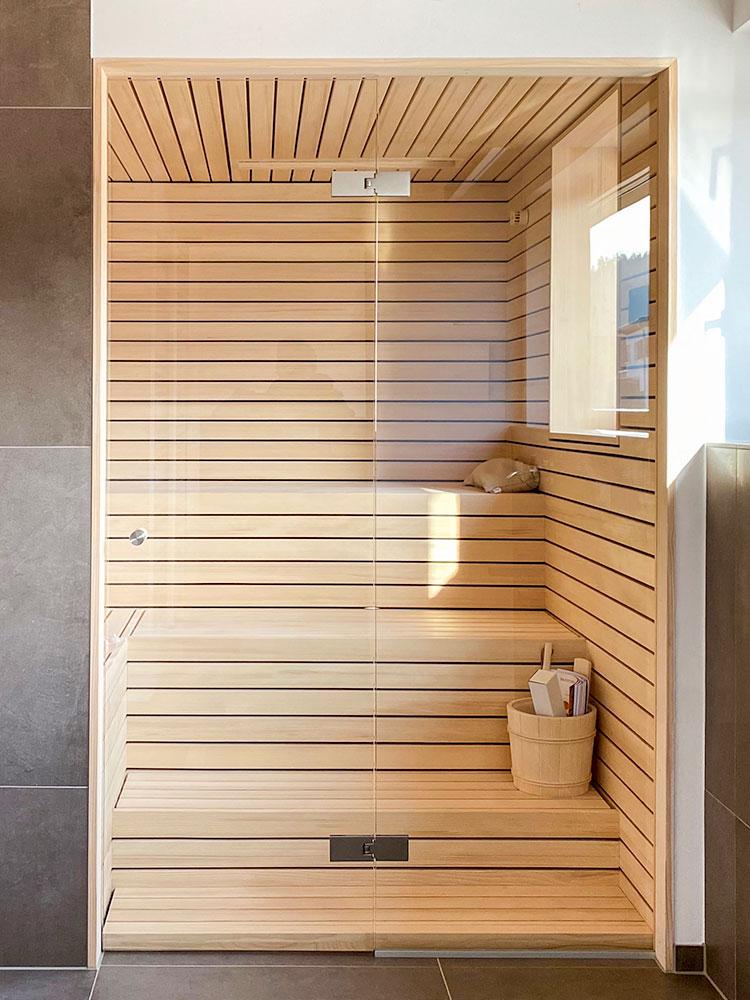 Sauna Maßanfertigung im Badezimmer
