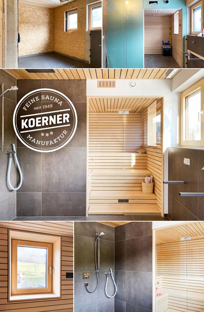 Individuelle Sauna im Wellnessbad