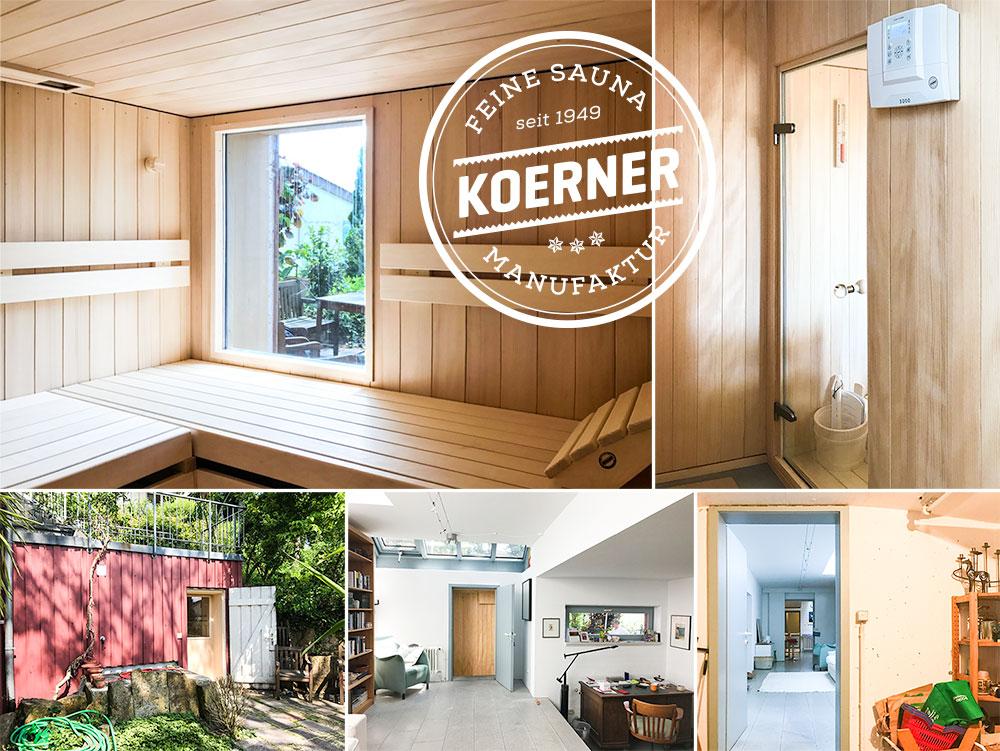 Sauna Modus mit Gartenblick