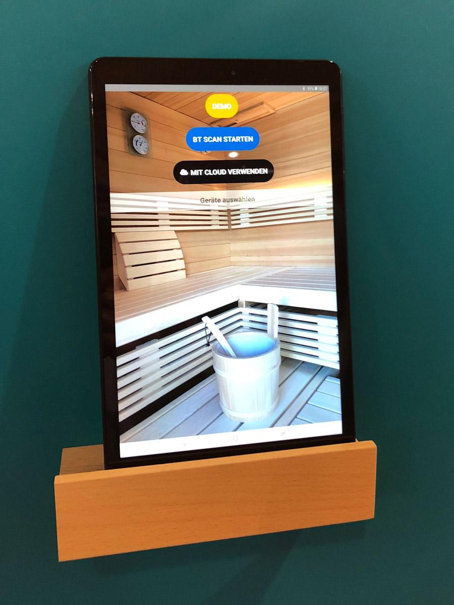 Saunasteuerung per Smartphone oder Tablet
