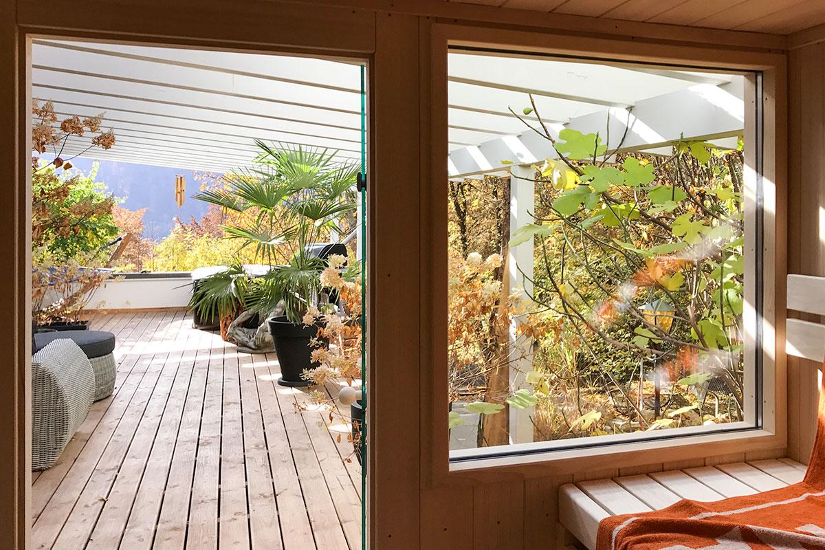 KOERNER Sauna mit großem Fenster