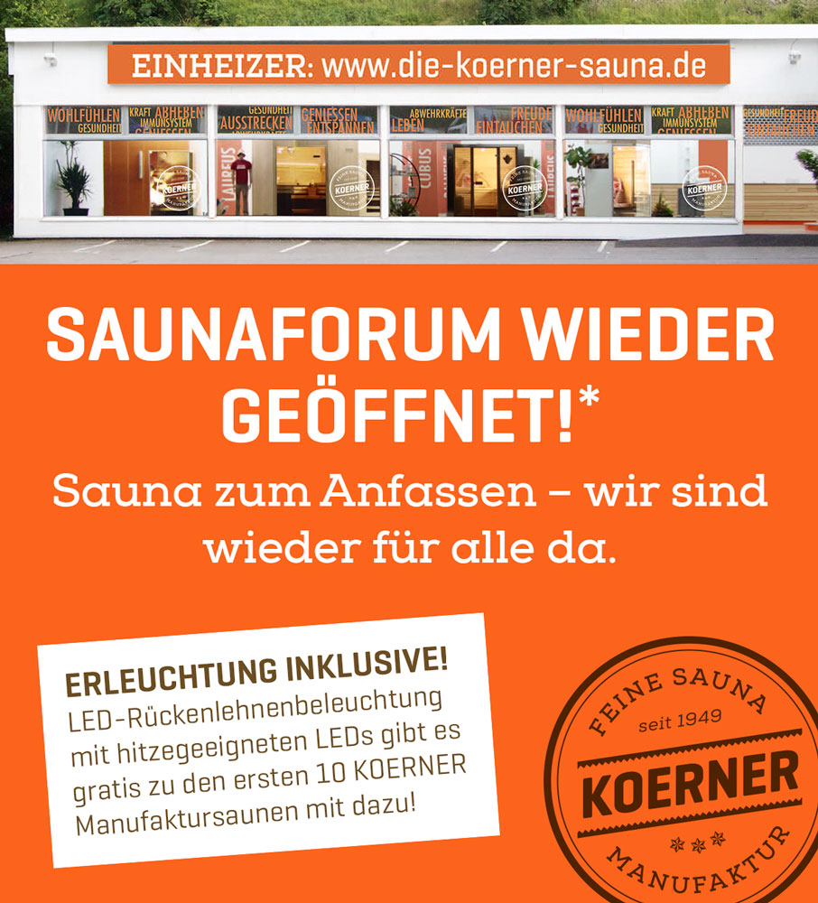 Saunaforum in Albstadt wieder geöffnet