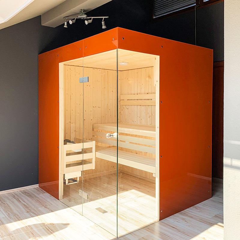 KOERNER Sauna Status mit Glasverkleidung