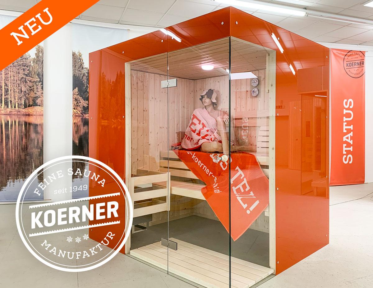 KOERNER Sauna Glasfront im Saunaforum Albstadt