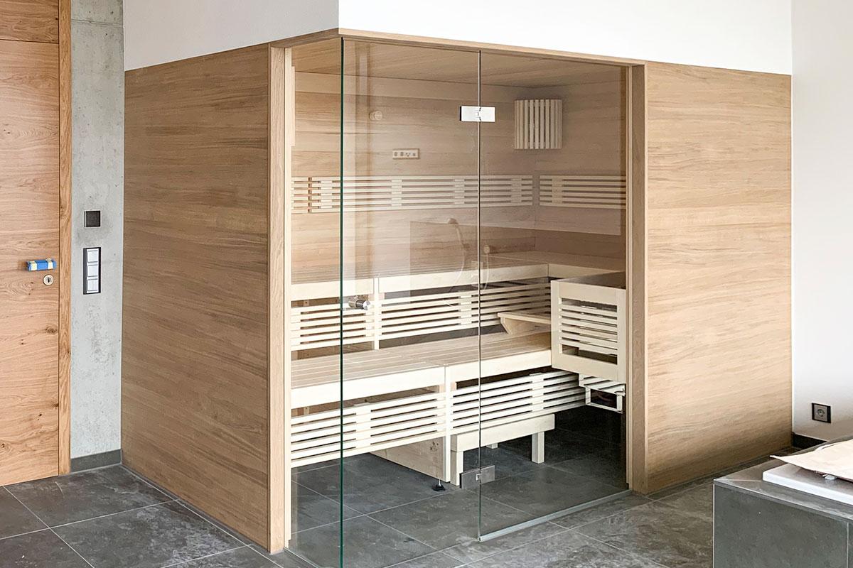 KOERNER Sauna im Neubaubad