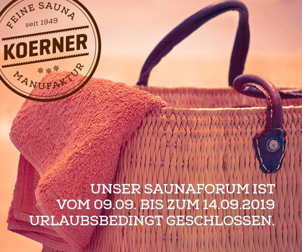 Unser Saunaforum in Albstadt macht Urlaub