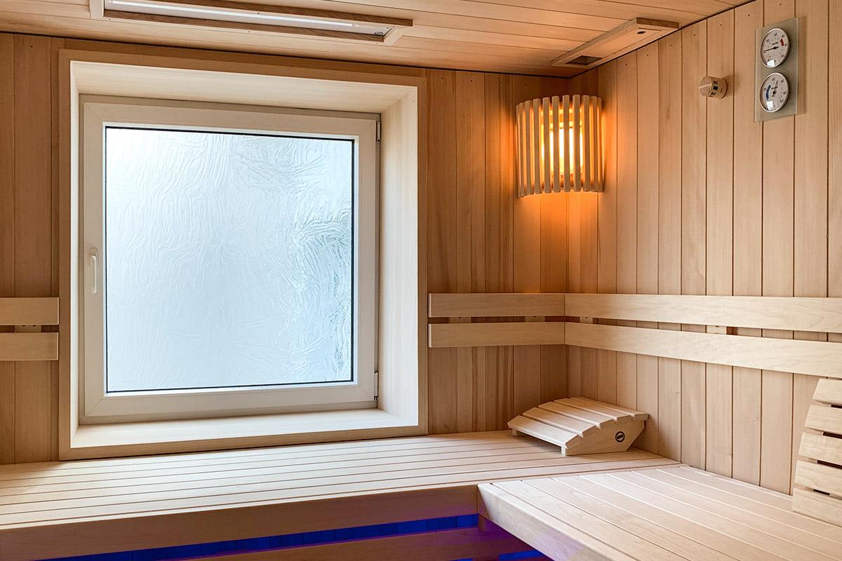 KOERNER Sauna Modus mit Fenster
