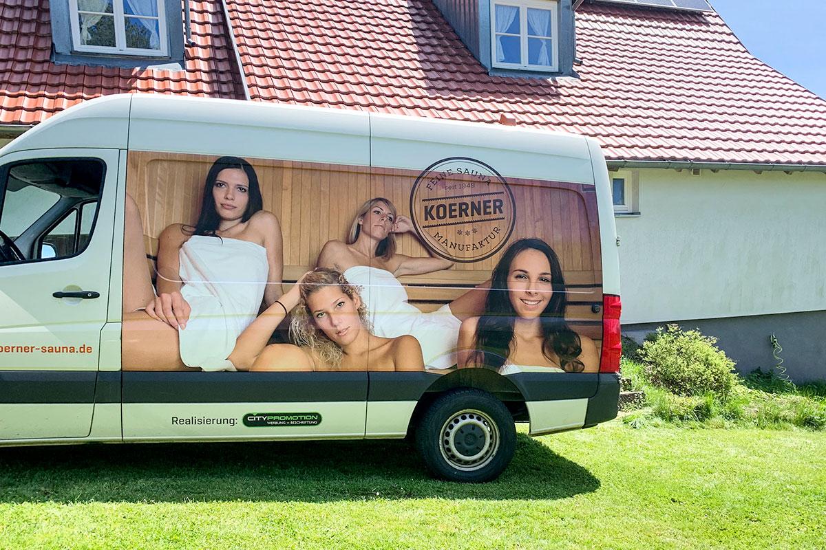 KOERNER Saunamanufaktur beim Saunabau in Schramberg-Heuwies
