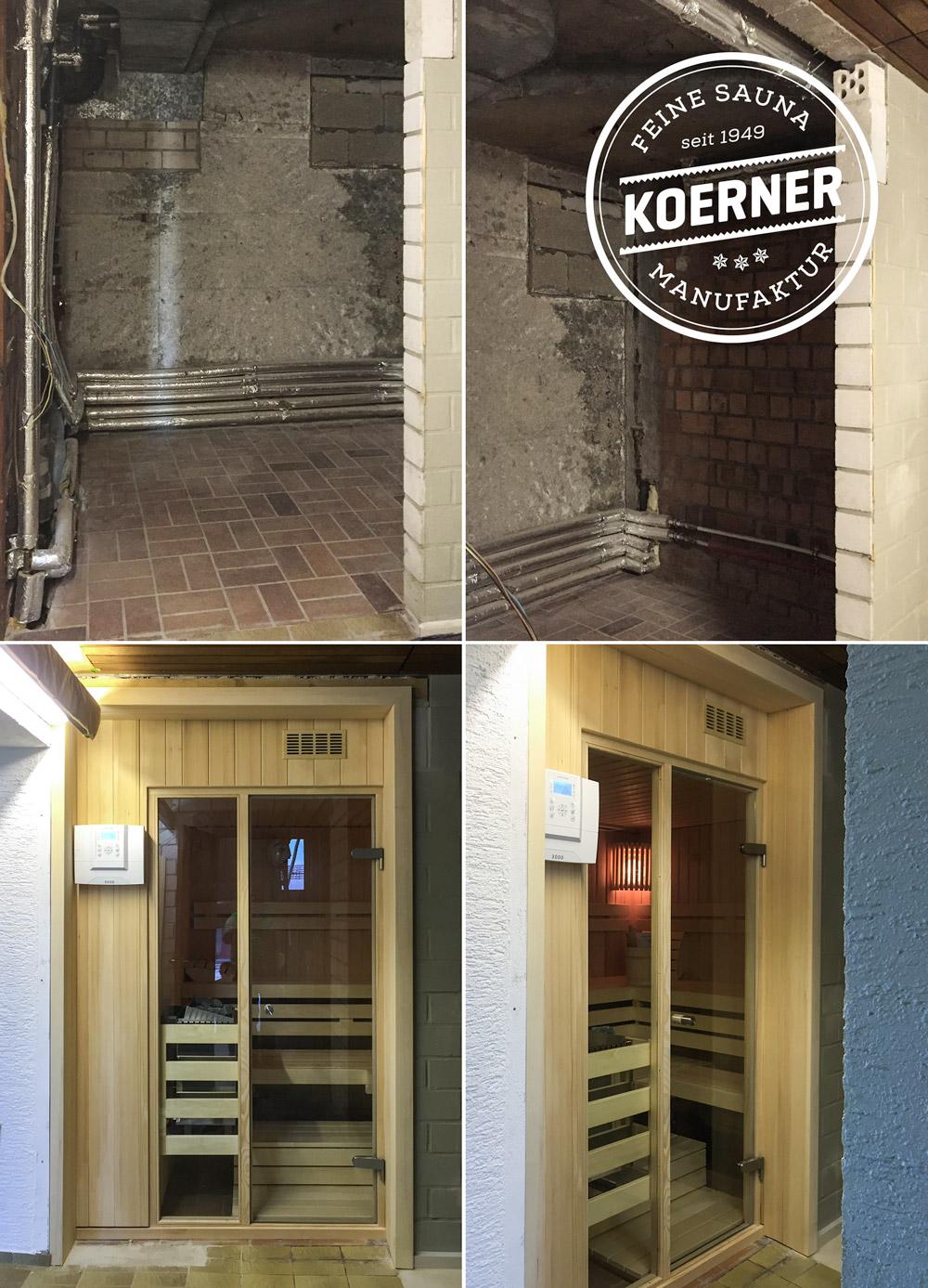 KOERNER Sauna im Keller