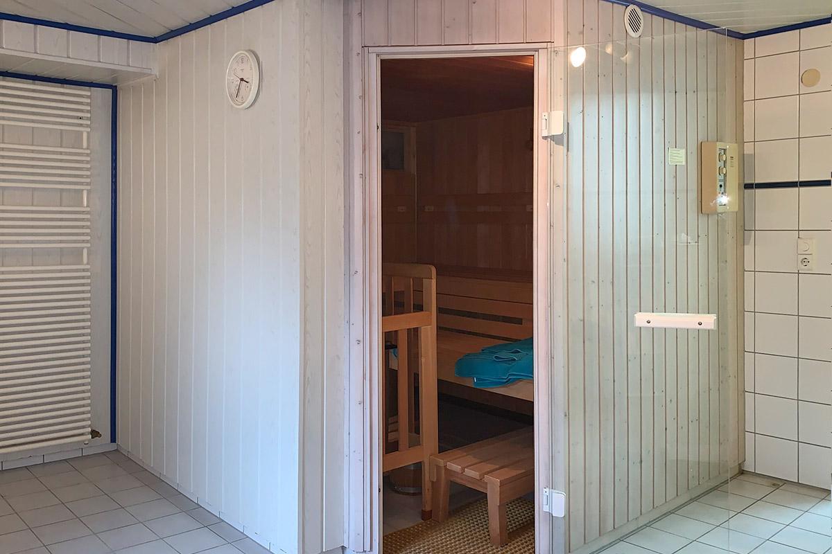 Sauna vorher