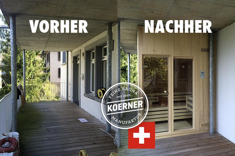 Sauna in Luzern, Schweiz