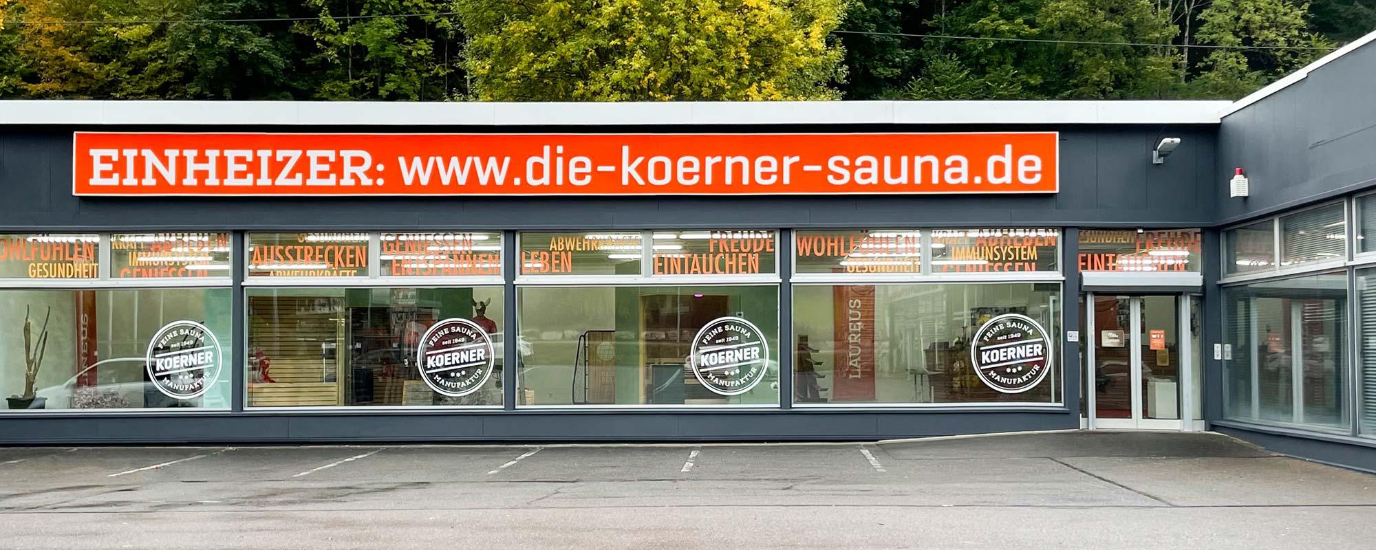 KOERNER Sauna Ausstellung und Showroom