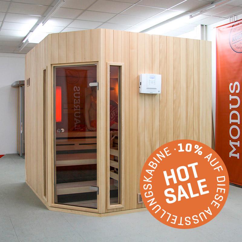 KOERNER Sauna MODUS DREIHEIZER – Ausstellungsstück im Sale