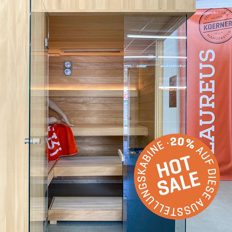 KOERNER Sauna LAUREUS PRO DREIHEIZER – Ausstellungsstück im Sale