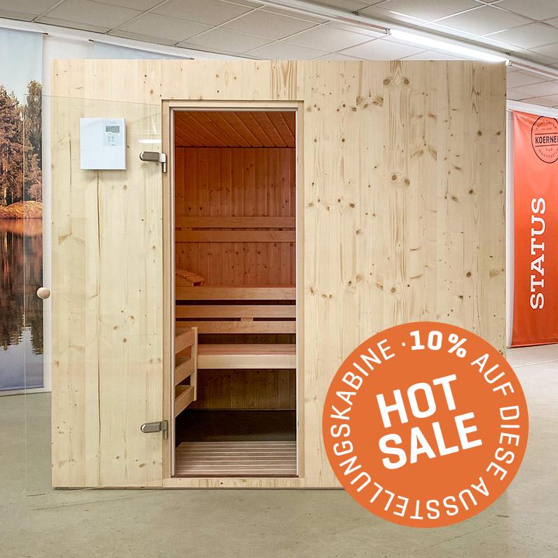 KOERNER Sauna STATUS EINHEIZER – Ausstellungsstück im Sale
