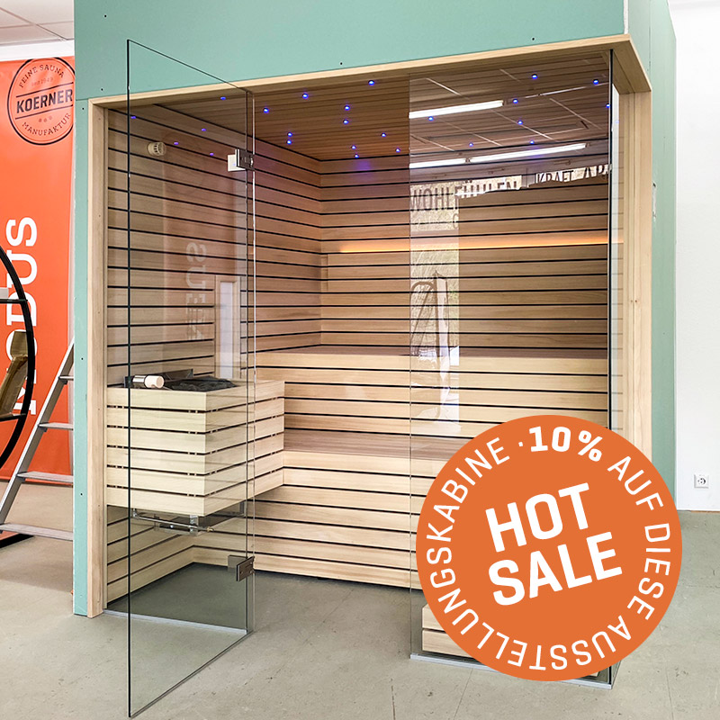 KOERNER Sauna LINEUS DREIHEIZER – Ausstellungsstück im Sale