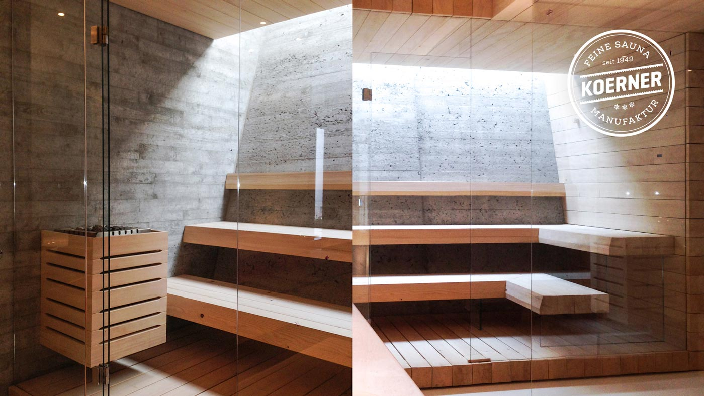 Design-Sauna der KOERNER Saunamanufaktur