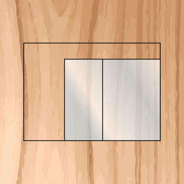 Glasfront mit rahmenloser Vollglastüre