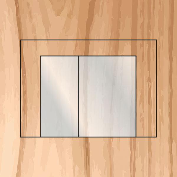Sauna mit Glasfront und rahmenloser Vollglastüre