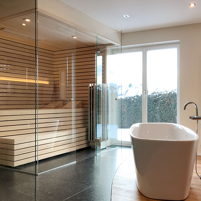 KOERNER Design Sauna Lineus im Bad