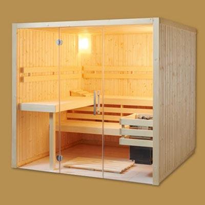 Koerner Sauna Status mit Glasfront
