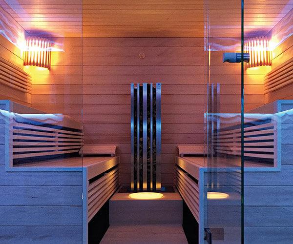 KOERNER Sauna Laureus mit Glasfront
